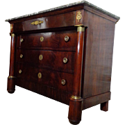 SALE 19th Century Antique French Empire Period Commode