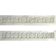 SOLD Pair of 19th Century French Antique Marble Decorative Friezes