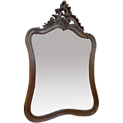 SALE 19th Century Antique French Louis XV Rococo Style Walnut Mirror