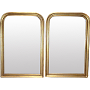 SALE Pair of Vintage French Louis Philippe Style Mirrors
