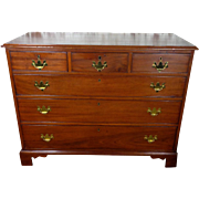 SALE 19th Century Antique English Chippendale Mahogany Chest of Drawers