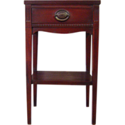 SALE English Antique Mahogany Nightstand