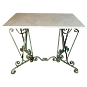 SALE Antique French Louis XV Style Wrought Iron Bistro Table