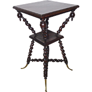 SALE 19th Century Antique French Louis XIII Style Oak Side Table
