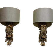 SALE Pair of Italian Sconces with Antique Fragments
