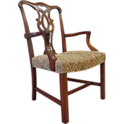 SALE Vintage English Georgian Mahogany Armchair