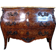 SALE Antique French Louis XV Style Mahogany Bombe Commode