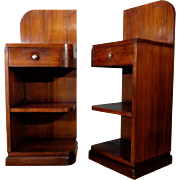 SALE Pair of Vintage French Art Deco Period Nightstands