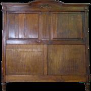 SALE French Antique Provincial Oak Headboard
