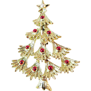 SALE 20% Off Everything!!  Signed Gerry's Christmas Tree Brooch Pin Vintage