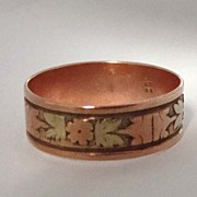 SOLD Beautiful Antique 10K Gold Rose Gold Wedding Band