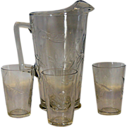 Geese in Flight Pitcher & Glass Set