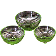 REDUCED Miniature Mixing Bowl Set Marked Stacy Marie