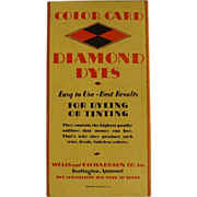 REDUCED Diamond Dyes Color Card