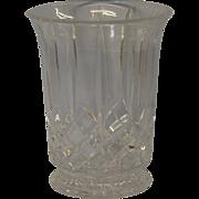 Vintage Pressed Glass Crystal Vase