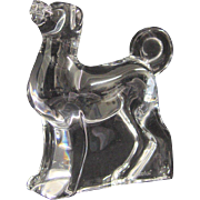 Baccarat Crystal Dog