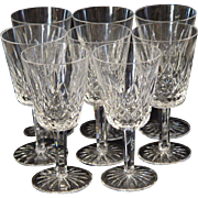 SOLD 12 Waterford Lismore 8 Ounce Water Goblets