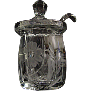 Heisey Jam Jar with Spoon