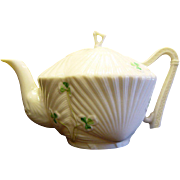 Belleek Harp Tea Pot