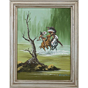 Native American Oil On Canvas