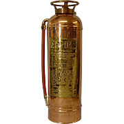 Copper American LaFrance Fire Extinguisher