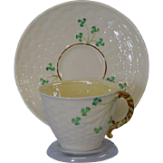 Irish Belleek Tea Cup and Saucer