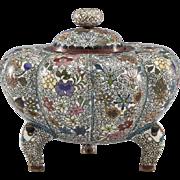 Cloisonne Melon Shape Jar