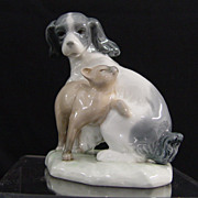 Lladro Nao Dog and Cat