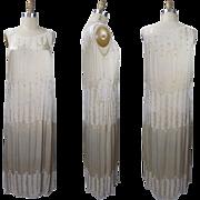 1920's Ivory Silk Beaded Dress from Manahan Inc.