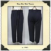 SOLD 1940s Wool Trousers by Tiger Kläder of Sweeden