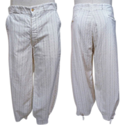 SOLD 1920s to 30s Mens Linen Blend Pinstripe Plus Fours 35 Waist