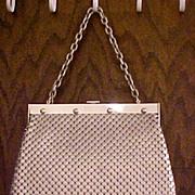 SALE Whiting & Davis Large Aluminum Mesh Purse Handbag
