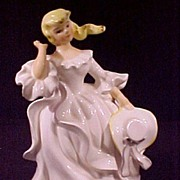 SOLD Vintage Porcelain Lady Figurine