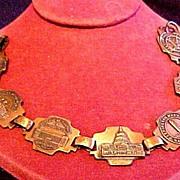 Vintage Washington D. C. Souvenir Bracelet Copper