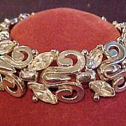 SALE Vintage Trifari Rhinestone Bracelet