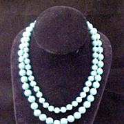 Vintage Trifari Double Strand Lucite Necklace