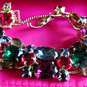 Vintage Weiss Bracelet Multi Colored