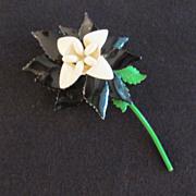 Beautiful Floral Enamel Pin Brooch