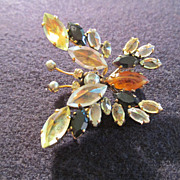 Vintage Butterfly Trembler Brooch Pin