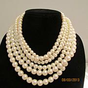 Fabulous Six Strand Vintage Necklace