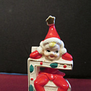 SOLD Christmas Elf Candle Holder