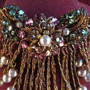 SALE Vintage Miriam Haskell Brooch Pin