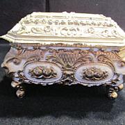 Vintage Metal Trinket Box with Enamel