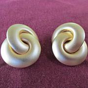 Fabulous Brushed Designer Inspired Earrings