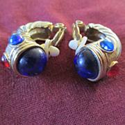 Designer Look Cable Earrings