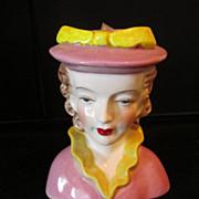 Vintage SS Lady Head Vase