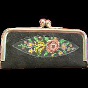 Vintage Petite Point Case Manicure Set Small Size