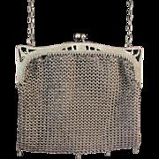 Vintage German Silver Handbag Purse Unusual Frame