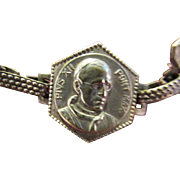 PVIS Pope Paul XII Souvenir Bracelet with Charms from Rome