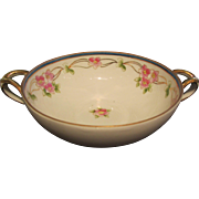 Nippon Bowl Hand Painted Floral Design